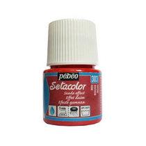 Краска для ткани  Setacolor Suede effect Pebeo №303 Красный, 45мл.