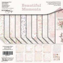 "Набор двусторонней бумаги 30,5х30,5см ""Beautiful Moments"", 190г/м2, 10шт"