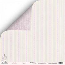 "Лист двусторонней бумаги 30,5x30,5 ""Мята"" из коллекции Little Bunny,  190г/м2, 1 лист"