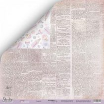 "Лист двусторонней бумаги 30,5x30,5 ""Газета 2"" из коллекции Daddy's Princess,  190г/м2, 1 лист"