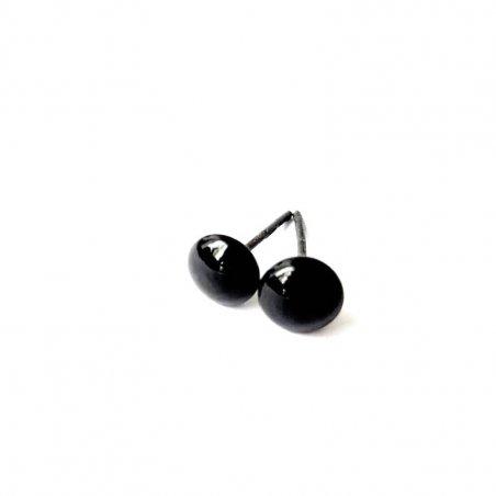 Глазки для игрушек стеклянные 3 мм, цвет - черный