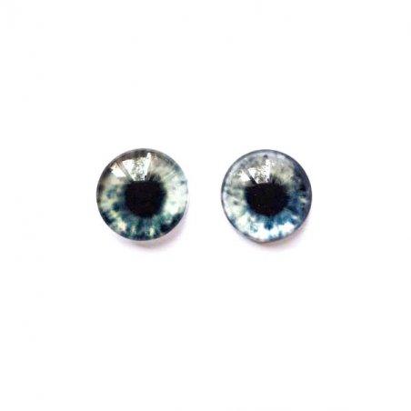 Глазки стеклянные для кукол №77176 (пара), 10 мм, цвет серый