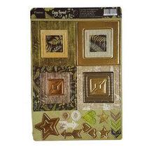 """Набор рамочек из чипборда """"Cozy Forest"""" с фольгированием (золото) для скрапбукинга, 30шт"""