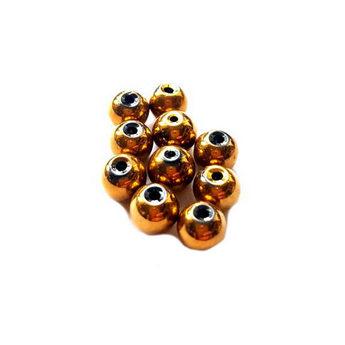Бусины стеклянные золотистые непрозрачные, 6 мм, №46, 10 шт