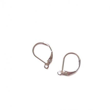 Швензы для сережек английский замок 1,4 см, медицинская сталь, 2 штуки