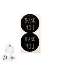 "Круглые наклейки ""THANK YOU"" d 3 см, 2 шт"