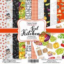"""Набор двусторонней бумаги 20х20см """"Soul Kitchen"""", 200г/м2, 10шт"""
