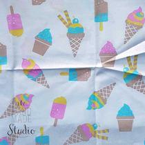 """Отрез бязи """"Мороженое"""", 40х50 см"""