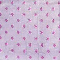 "Отрез поплина ""Маленькие звездочки"" 8 мм на розовом, 40х50 см"