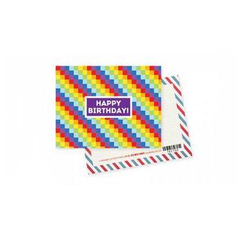 """Мини открытка """"Happy Birthday!"""" 10х7,5 см"""