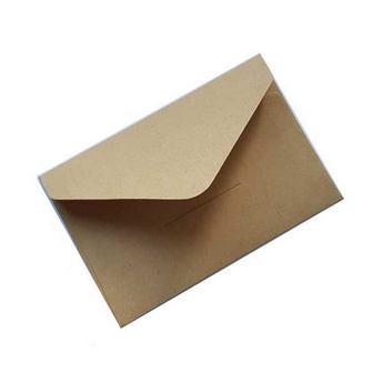 Крафт конверт, 10,5х7 см, цвет крафт