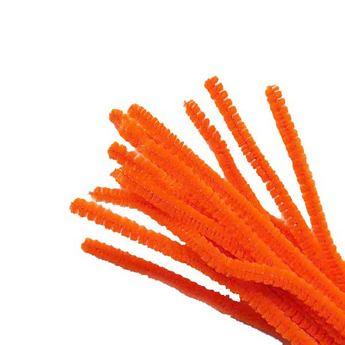 Синельная проволока, цвет оранжевый неоновый, 30 см, 1 штука