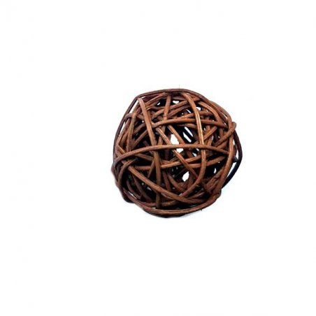 Шарик из ротанга, цвет шоколадный, 5 см.