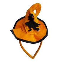 """Шляпка на ободке""""Хеллоуин с ведьмочкой"""""""