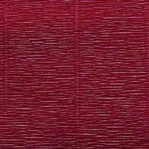 Креп-бумага (гофро-бумага) Италия, плотность - 180г/м², 50смх2,5м, №588 сливово-бордовый