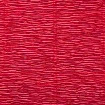 Креп-бумага (гофро-бумага) Италия, плотность - 180г/м², 50смх2,5м, №17А6 красный