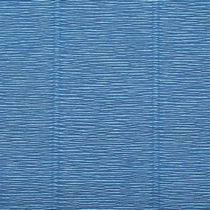 Креп-бумага (гофро-бумага) Италия, плотность - 180г/м², 50смх2,5м, №615 синий