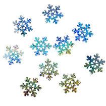Пайетки Снежинки, цвет голографическое серебро 2,5 см (2г.)