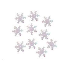 Пайетки Снежинки, цвет перламутр ( голограмма) 2 см (2г.)
