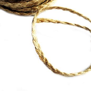 Бечевка-косичка (джутовый шпагат) для декорирования, толщина - 6 мм, 1 м