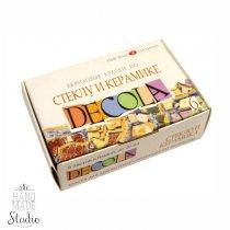 Набор красок по стеклу и керамике DECOLA, 6 цветов