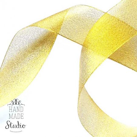 Лента-парча, цвет золото 5 см, 1м.