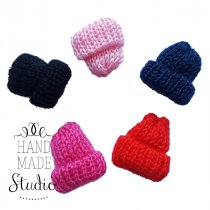 Вязаная мини-шапочка, цвет светло-розовый, 3см