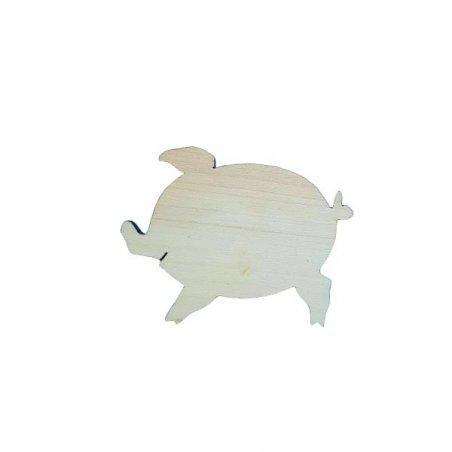 """Деревянная заготовка  """"Свинка №1"""" с магнитом,  11х8,5 см"""
