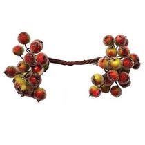 Ягода декоративная  сахарная, цвет красно-зеленая,  20 двухсторонних ягод