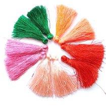 Набор кисточек для рукоделия 4 см, цвет микс (10шт)