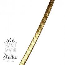 Декоративная тесьма-шнур 0,5 см, цвет золото (1м)