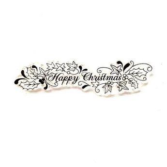 """Силиконовый штамп """"Happy Christmas"""" 9х2,4 см"""