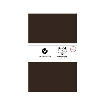 Блокнот для маркеров Classic White А5, 160г/м2, 32л., MAXGOODZ, цвет коричневый