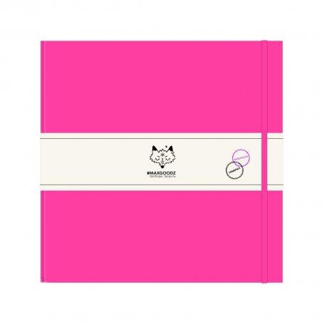 Блокнот для акварели и графики Heavy AQUA 21*21см., 230г/м2, 48л., MAXGOODZ, цвет фуксия