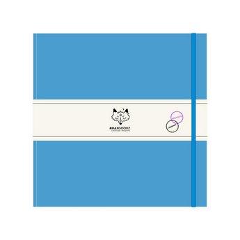 Блокнот для акварели и графики Heavy AQUA 21*21см., 230г/м2, 48л., MAXGOODZ, цвет голубой