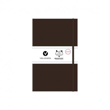Блокнот для маркеров Heavy White А5, 160г/м2, 96л., MAXGOODZ, цвет коричневый