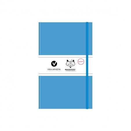 Блокнот для маркеров Heavy White А5, 160г/м2, 96л., MAXGOODZ, цвет голубой