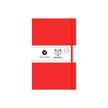 Блокнот для маркеров Heavy White А5, 160г/м2, 96л., MAXGOODZ, цвет алый