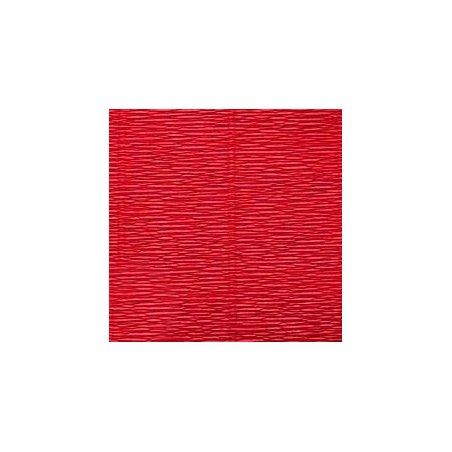 Креп-бумага (гофро-бумага) Италия, плотность - 180г/м², 50смх2,5м, №589 красный