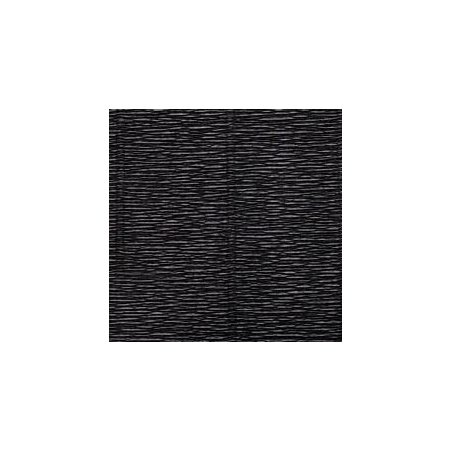 Креп-бумага (гофро-бумага) Италия, плотность - 180г/м², 50смх2,5м, №602 черный