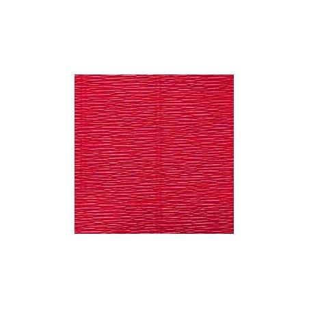 Креп-бумага (гофро-бумага) Италия, плотность - 180г/м², 50смх2,5м, №586 красный рубин