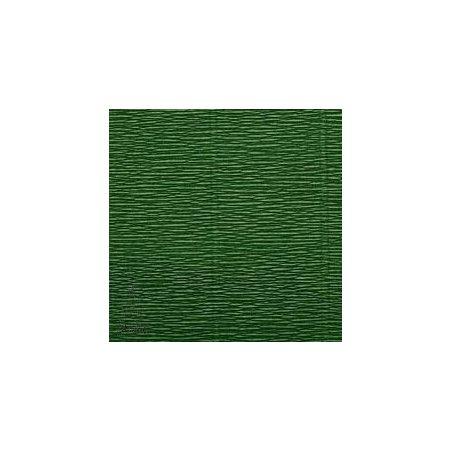 Креп-бумага (гофро-бумага) Италия, плотность - 180г/м², 50смх2,5м, №591 хвойный зеленый