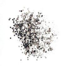 Глиттер (крупные блестки) , цвет - серебро (10г.)