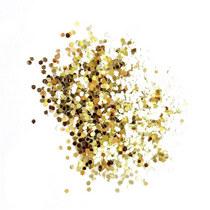 Глиттер (крупные блестки) , цвет - светлое золото (10г.)