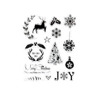"""Набор силиконовых штампов """"Merry Christmas"""" №2, 14х18см"""