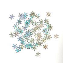 Пайетки Снежинки, цвет голографическое серебро 1,2 см (2г.)