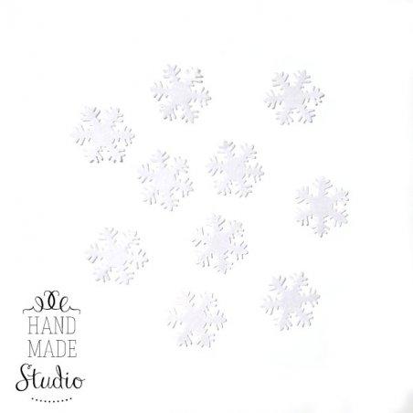 Фетровые Снежинки №4,цвет белый 3 см, 10 шт