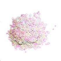 Сухие блестки Звездочки, цвет - белый голограмма (10г.)