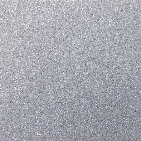 Фоамиран с глиттером, цвет серебро 2 мм. 20х30 см