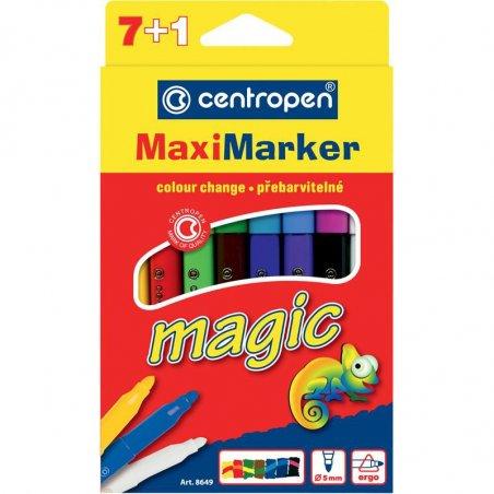 Набор двойных фломастеров Magic Maxi, 7+1 цветов